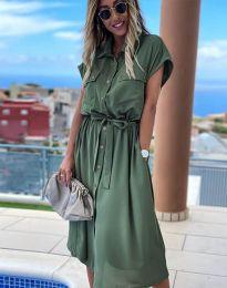 Šaty - kód 6344 - olivová  zelená
