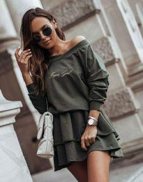 Šaty - kód 12051 - olivově zelená