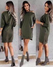 Šaty - kód 8858 - olivově zelená