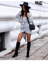Šaty - kód 395 - šedá