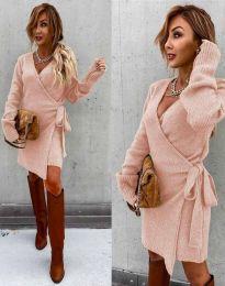 Šaty - kód 9846 - světle růžová