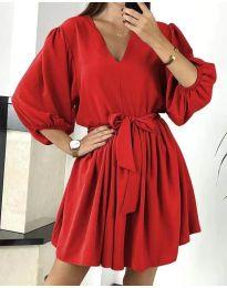 Šaty - kód 6210 - červená