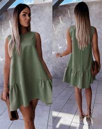 Šaty - kód 3456 - olivově zelená