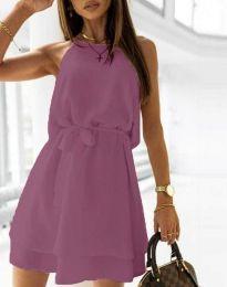 Šaty - kód 9968 - tmavě fialová