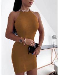 Šaty - kód 9690 - hněda