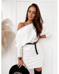 Šaty - kód 4442 - bílá