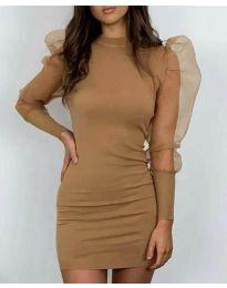 Šaty - kód 3545 - hněda