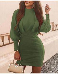 Šaty - kód 4016 - olivová  zelená