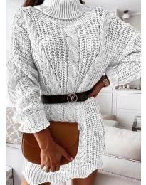 Šaty - kód 6071 - bílá