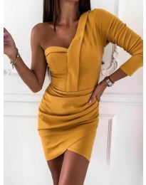 Šaty - kód 2079 - hořčičná