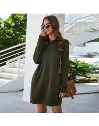 Šaty - kód 785 - olivová  zelená
