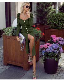 Šaty - kód 4418 - olivová  zelená