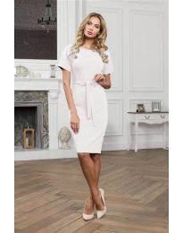 Šaty - kód 3698 - bílá
