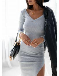 Šaty - kód 12070 - šedá