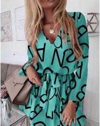 Šaty - kód 392 - mentolová