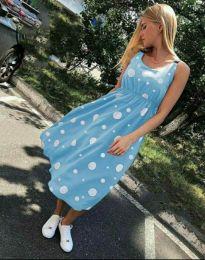 Šaty - kód 8122 - 3 - světle modrá