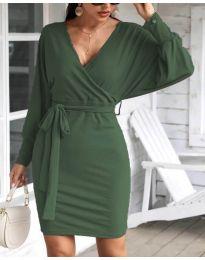 Šaty - kód 1197 - olivová  zelená