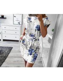 Šaty - kód 1055 - bílá