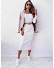Šaty - kód 5878 - bílá
