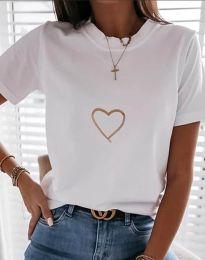 Tričko - kód 3701 - bílá