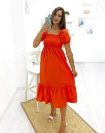 Šaty - kód 3283 - 3 - oranžová
