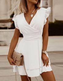 Šaty - kód 5654 - bílá