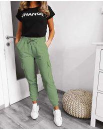 Kalhoty - kód 3089 - 1 - zelená