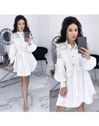 Šaty - kód 6364 - bílá