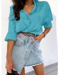 Košile - kód 4646 - modrá tyrkysová barva