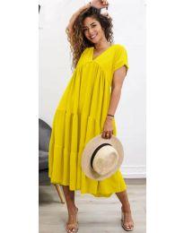 Šaty - kód 4475 - žlutá