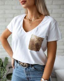 Tričko - kód 11631 - bíla