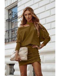 Šaty - kód 8987 - hněda