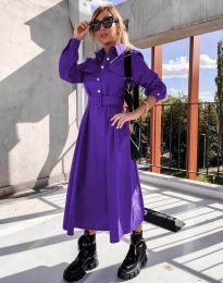 Šaty - kód 1467 - tmavě fialová