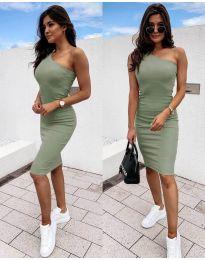 Šaty - kód 0208 - olivová  zelená