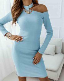 Šaty - kód 0984 - 4 - světle modrá