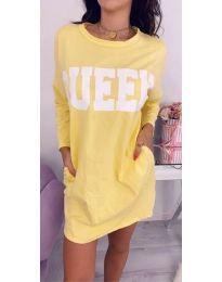 Šaty - kód 883 - žlutá
