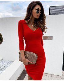 Šaty - kód 4040 - červená