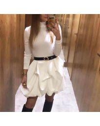 Šaty - kód 8380 - bílá