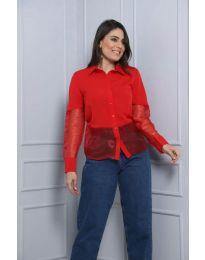 Košile - kód 0638 - 2 - červená