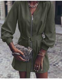 Šaty - kód 820 - olivová  zelená