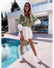 Šaty - kód 5024 - 5 - olivově zelená