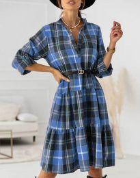 Šaty - kód 6842 - světle modrá