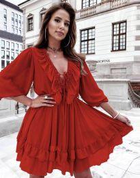 Šaty - kód 5648 - červená