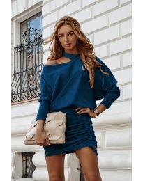 Šaty - kód 8987 - tyrkysový