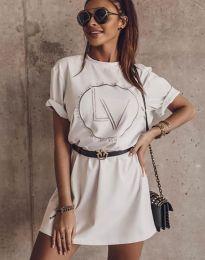 Šaty - kód 8205 - bílá