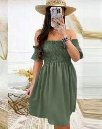 Šaty - kód 1409 - olivová  zelená