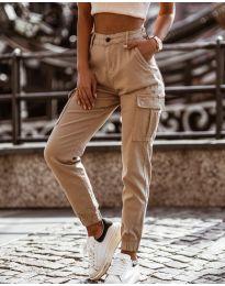 Kalhoty - kód 2192 - 2 - bežová