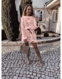 Šaty - kód 6208 - růžová