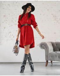 Šaty - kód 9601 - červená