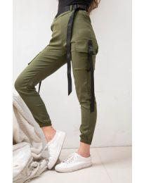 Kalhoty - kód 6967 - olivová  zelená